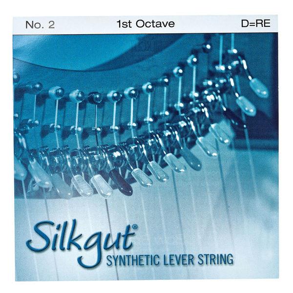 Bow Brand Silkgut 1st D Harp String No.2