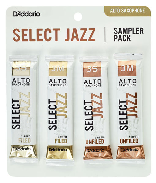 Daddario Woodwinds Select Jazz Alto Sampler Pck 3