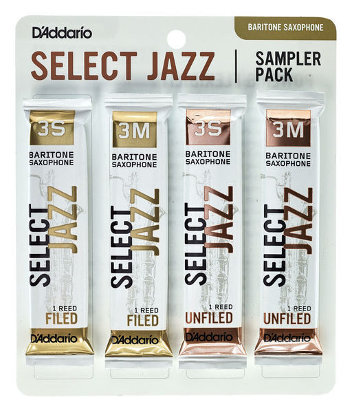 Daddario Woodwinds Select Jazz Bari Sampler Pck 3