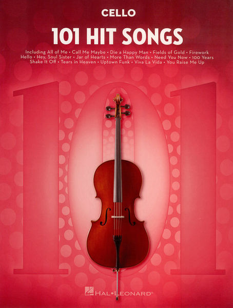Hal Leonard 101 Hit Songs For Cello