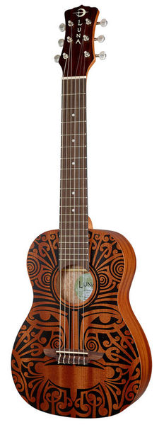 Luna Guitars Uke Tribal 6-String Baritone