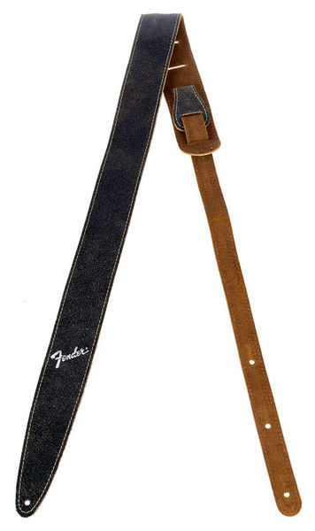 Fender Distressed Leather Strap BK