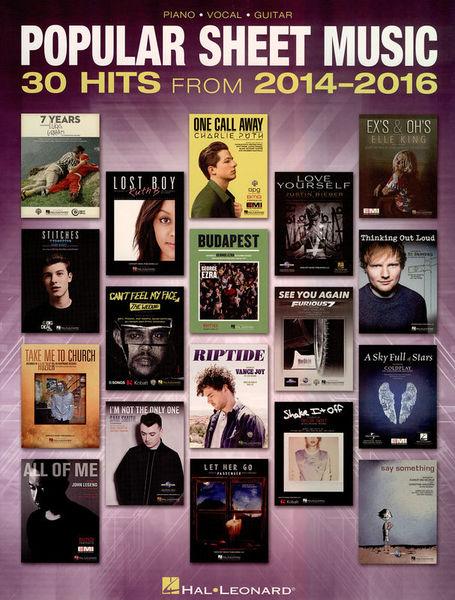 Hal Leonard Popular Sheet Music 2014-2016