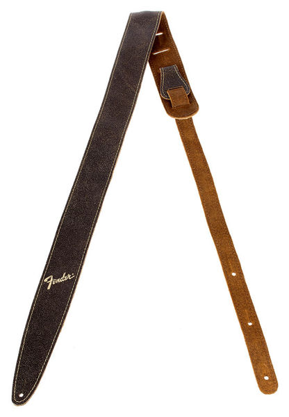 Fender Distressed Leather Strap BRN