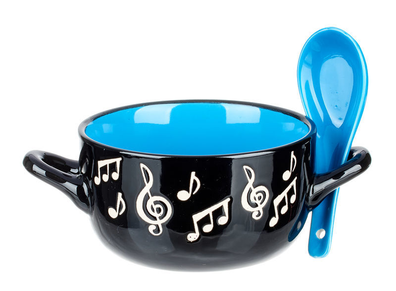 Music Sales Music Note Bowl Spoon -Blue