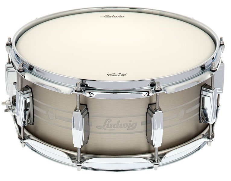 "Ludwig 14""x5,5"" Heirloom Stain. Steel"