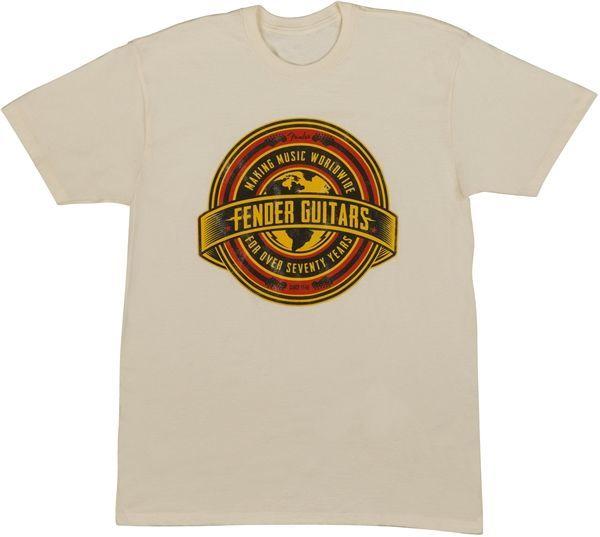 Fender T-Shirt Worldwide Tan S