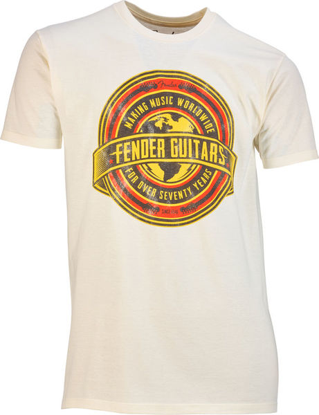 Fender T-Shirt Worldwide Tan M