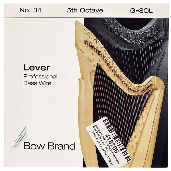 Bow Brand BWP 5th G Harp Bass Wire No.34