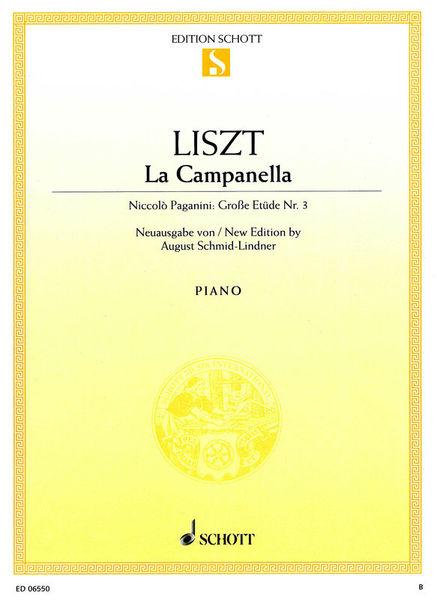 Schott Liszt Paganini La Campanella