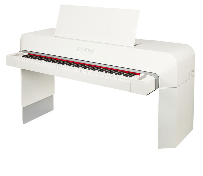 Alpha Studio Piano white polished