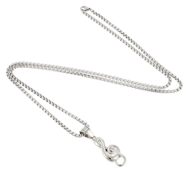 Rockys Pendant G-Clef w. Chain Stain