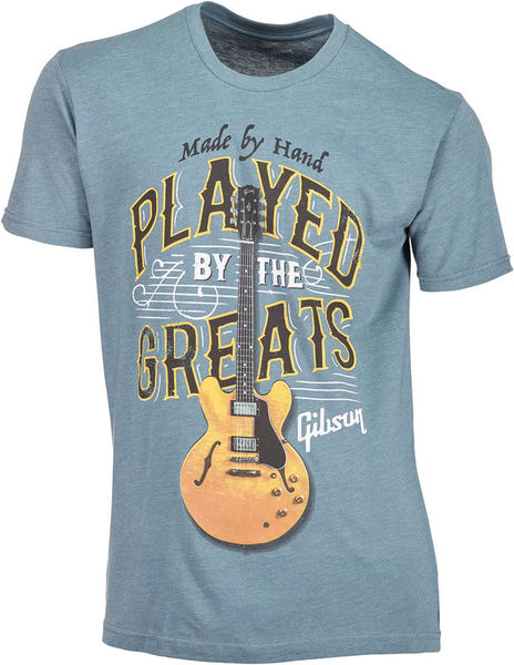 Gibson T-Shirt Played By. Blue M