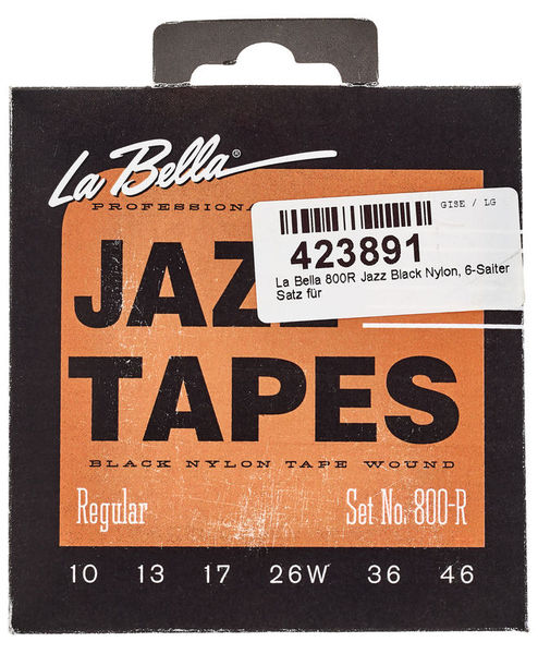 La Bella 800R Jazz Black Nylon