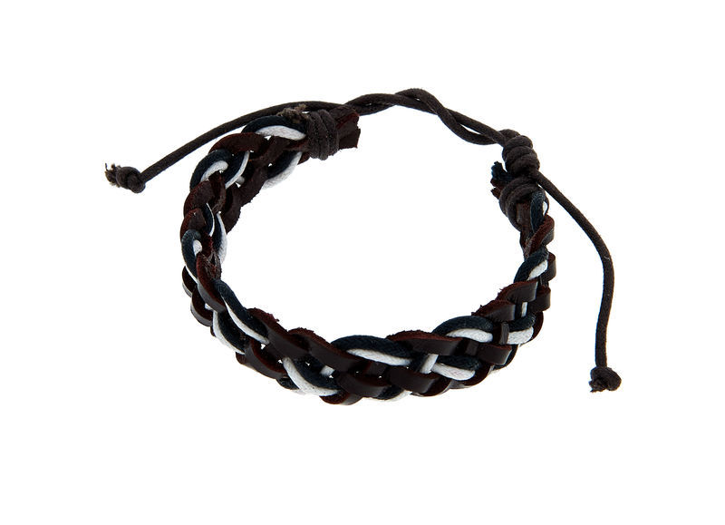 Rockys Bracelet Leather Black/White