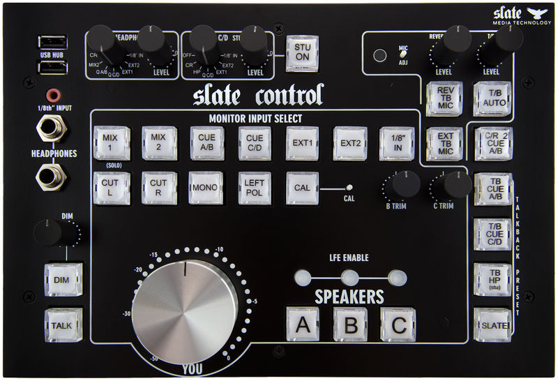 Slate Media Technology Slate Control Black