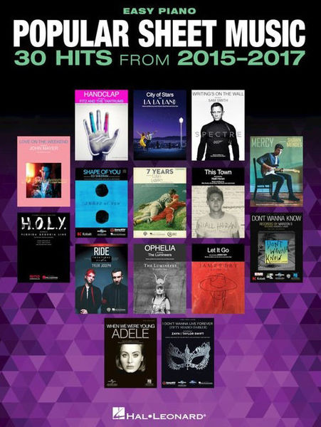 Hal Leonard 30 Hits From 2015-2017