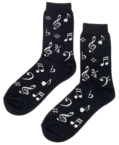 Music Sales Pair of Socks Woman Notes