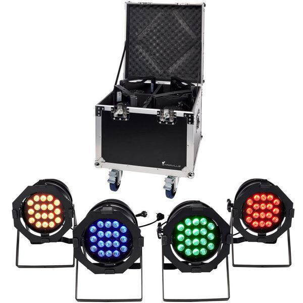 LED Par 64 CX-6 Tourpack 4 B Stairville