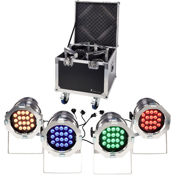 LED Par 64 CX-6 Tourpack 4 S Stairville