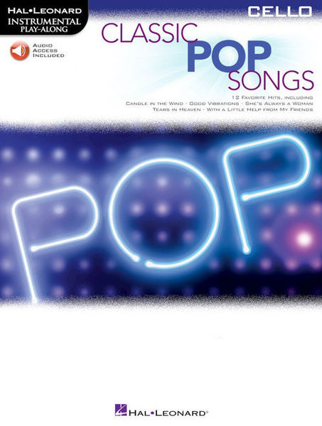 Hal Leonard Classic Pop Songs Cello