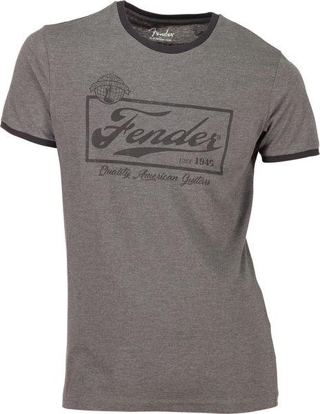 Fender T-Shirt Ringer Dark Grey L