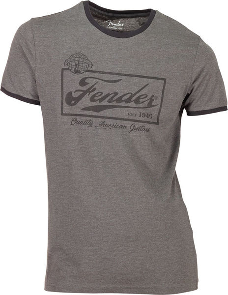 Fender T-Shirt Ringer Dark Grey XL
