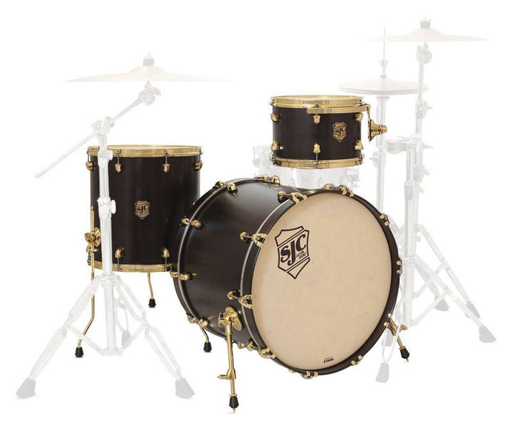 SJC Drums Tour 3pc shell set black/brass