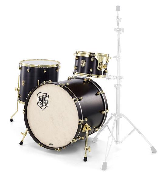 SJC Drums Tour 3pc shell set black/brass