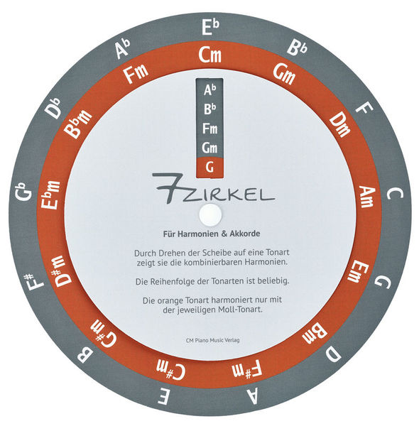 7-Zirkel / Quintenzirkel CM Piano Music Verlag