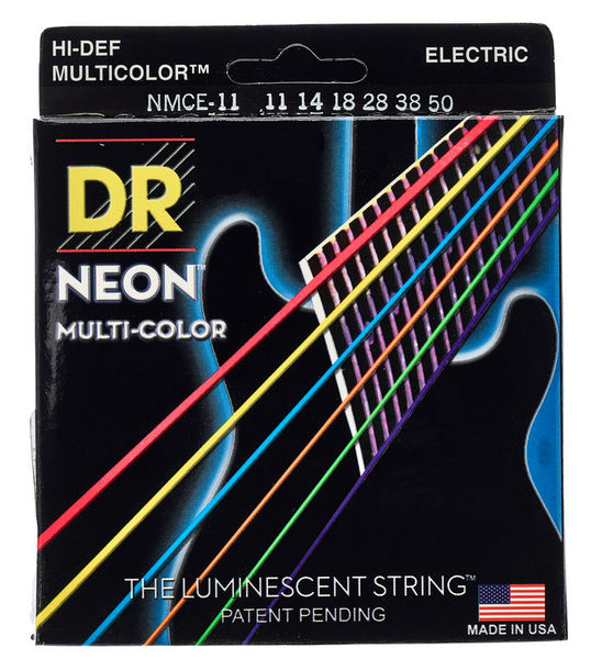 DR Strings NEON Hi-Def Multi-Color