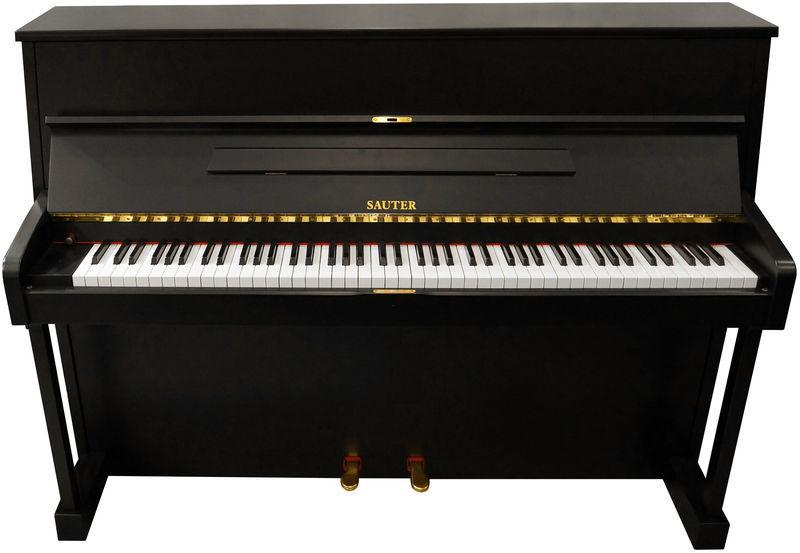 Sauter Piano, used, black