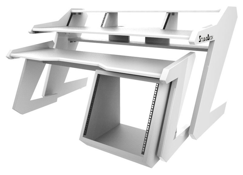 Music Commander Set All White Studio Desk