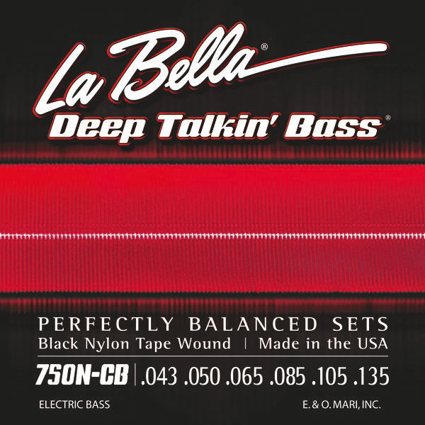 750N-CB Black Nylon Tape La Bella