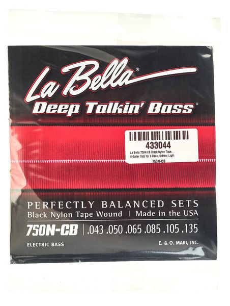 La Bella 750N-CB Black Nylon Tape