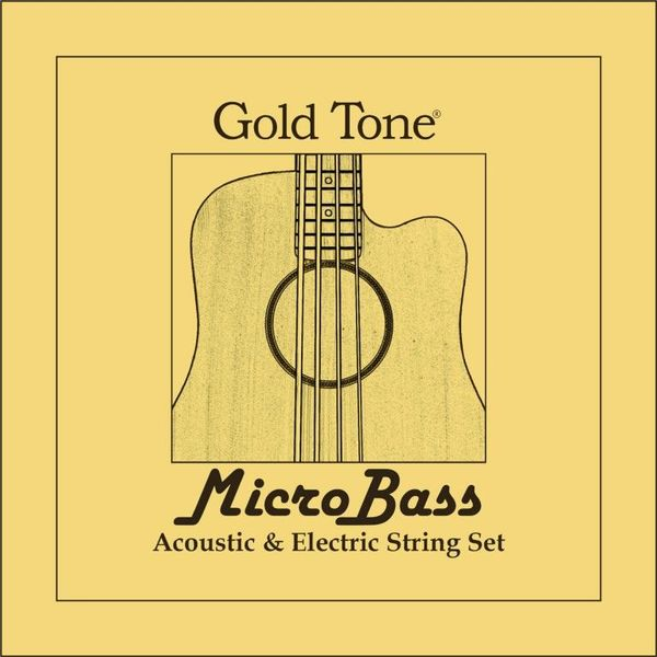 MBS Micro Bass String Set Gold Tone