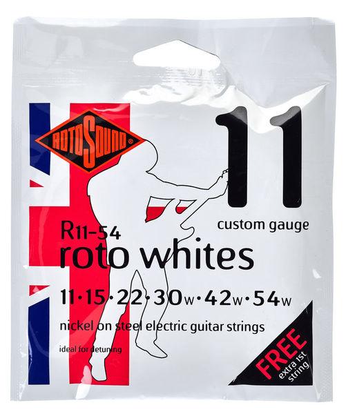 Rotosound Whites 11-54 Nickel Strings