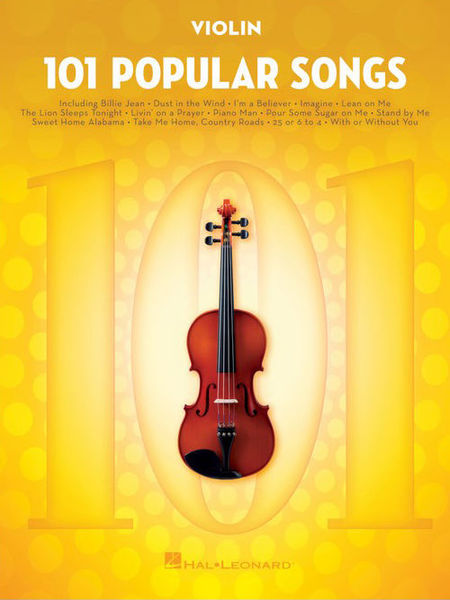Hal Leonard 101 Popular Songs Violin