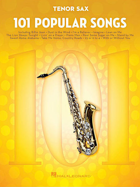 Hal Leonard 101 Popular Songs T-Sax