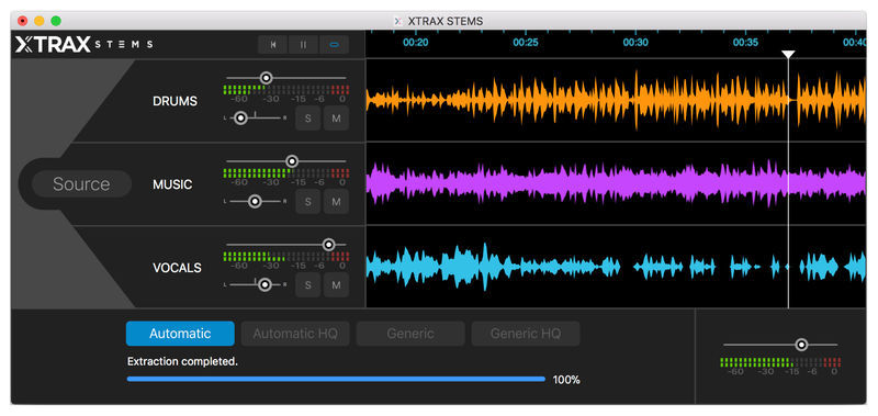 Audionamix Xtrax Stems