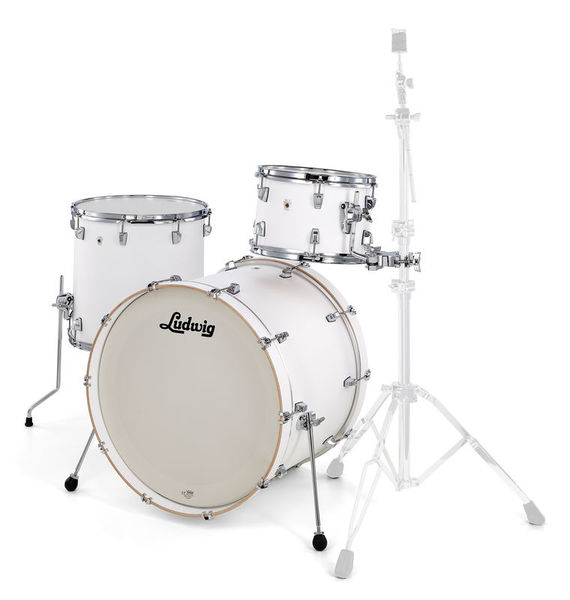 "Ludwig NeuSonic 3pc 22"" Aspen White"