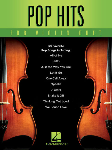 Hal Leonard Pop Hits for Violin Duet