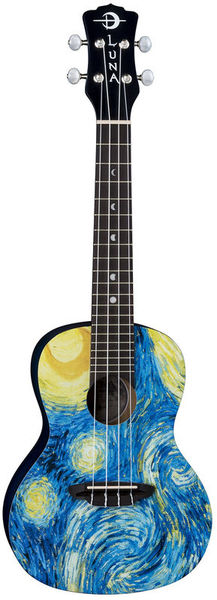 Uke Starry Night Concert Luna Guitars