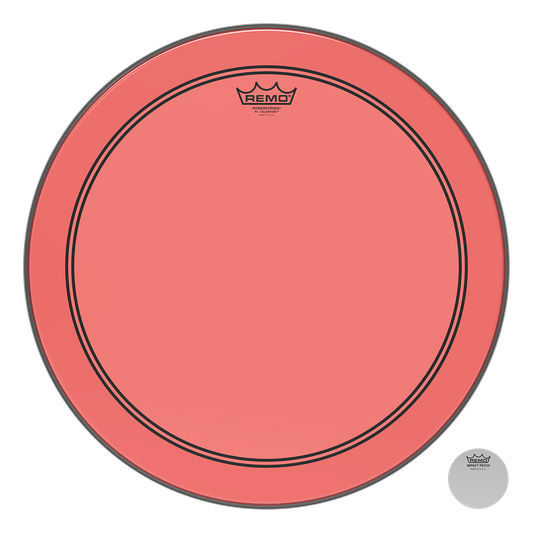 "20"" P3 Colortone Batter Red Remo"