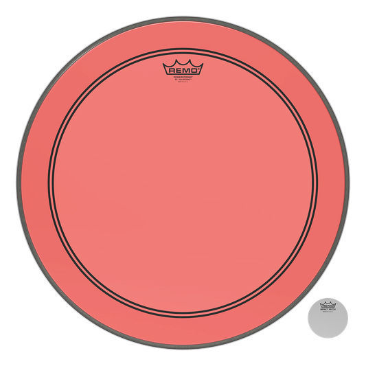 "22"" P3 Colortone Batter Red Remo"