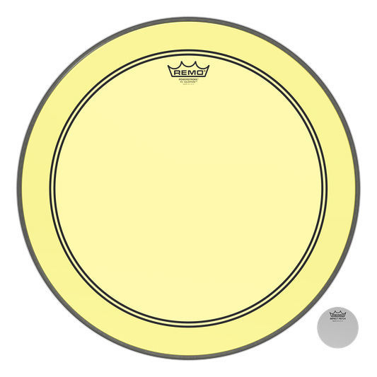 "Remo 20"" P3 Colortone Batter Yellow"