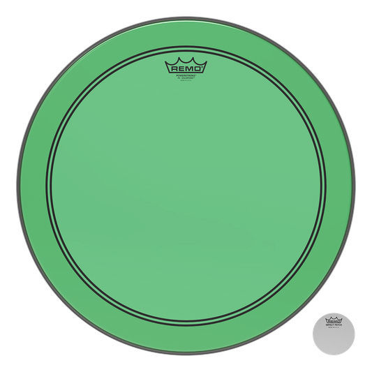 "Remo 20"" P3 Colortone Batter Green"