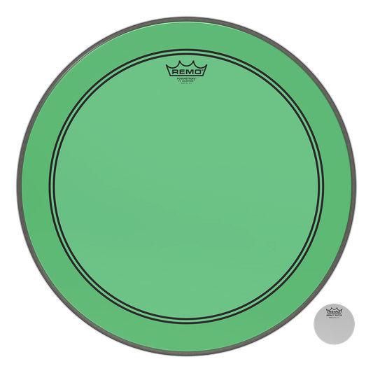 """Remo 22"""" P3 Colortone Batter Green"""