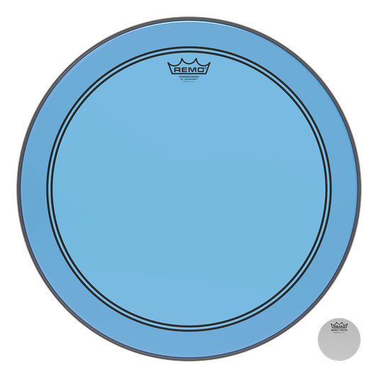 """Remo 18"""" P3 Colortone Batter Blue"""