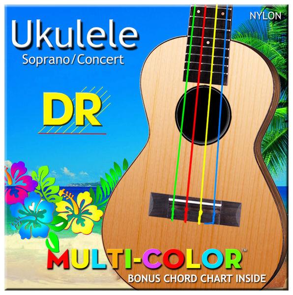 DR Strings Multi Colour Ukulele Strings